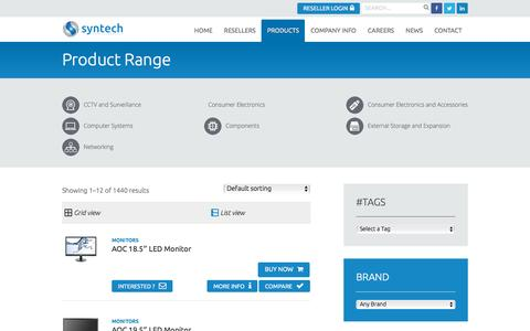 Screenshot of Products Page syntech.co.za - Products Archive - Syntech - captured Nov. 24, 2015