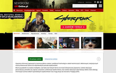 Screenshot of Press Page gry-online.pl - NEWSROOM - Najnowsze wiadomoĹ›ci o grach | GRYOnline.pl - captured June 17, 2019