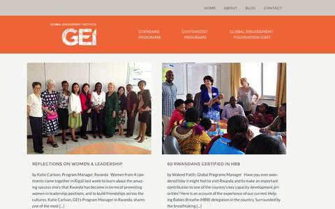 Screenshot of Blog global-engagement.org - Blog - Global Engagement Institute - captured Oct. 2, 2014
