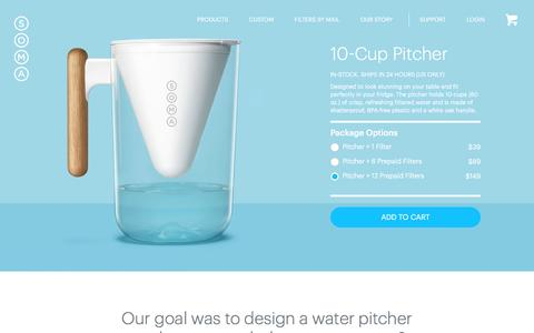 Soma: Makers of Beautiful, Sustainable Water Filters.