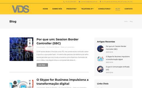 Screenshot of Blog vdsip.com.br - Blog - VDS - Comunicações Unificadas - captured Oct. 18, 2018