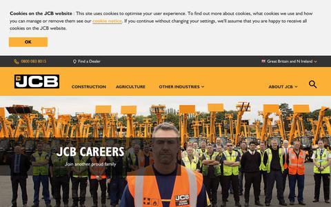 Screenshot of Jobs Page jcb.com - Careers - captured Nov. 28, 2017