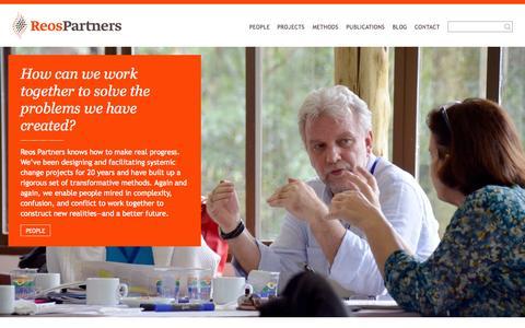 Screenshot of Home Page reospartners.com - Reos Partners - Reos Partners - captured Sept. 4, 2015