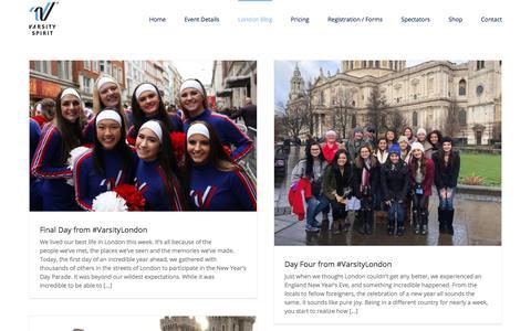 Screenshot of Blog varsity.com - London Blog – Varsity Spirit London Parade - captured Jan. 12, 2018