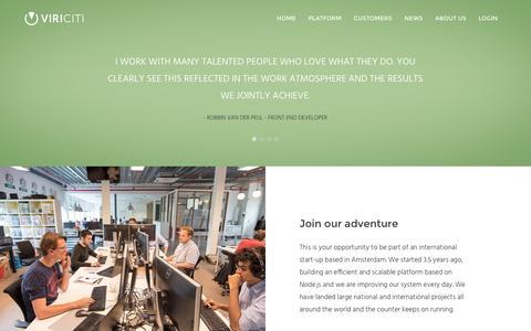 Screenshot of Jobs Page viriciti.com - Careers - ViriCiti - captured Aug. 19, 2016