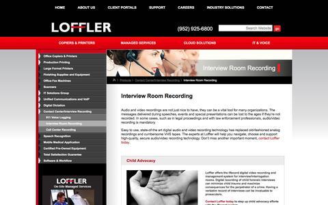 Screenshot of loffler.com - Interview Room Recording | Call Recording, Interview Recording MN | Loffler - captured March 20, 2016