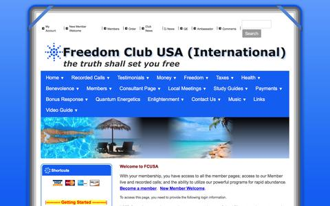 Screenshot of Privacy Page freedomclubusa.com - Freedom Club USA - Privacy - captured Sept. 2, 2016