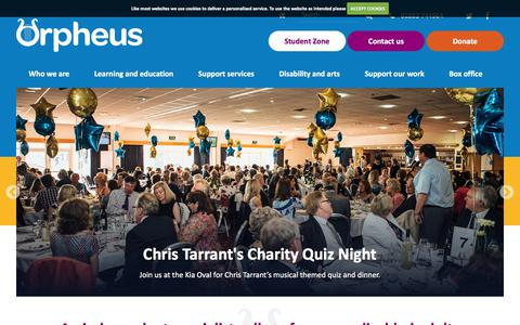 Screenshot of Home Page orpheus.org.uk - The Orpheus Centre Trust | Home - captured Nov. 4, 2017
