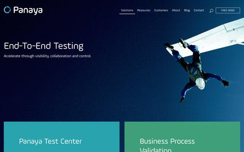 End-to-end Testing Solutions