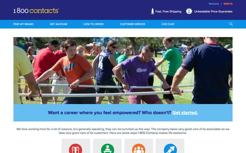Screenshot of Jobs Page 1800contacts.com - Careers   1-800 Contacts - captured Sept. 21, 2018