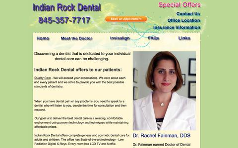 Screenshot of Home Page indianrockdental.com - Suffern Dentist | Dental Services | Indian Rock Dental - - captured Sept. 30, 2014