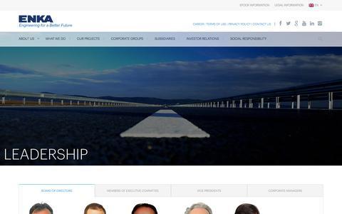 Screenshot of Team Page enka.com - Leadership   ENKA İnşaat ve Sanayi A.Ş – Resmi Sitesi - captured Feb. 18, 2016