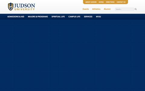 Screenshot of Home Page judsonu.edu - Judson University - Home - captured Nov. 9, 2016