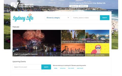 Screenshot of Blog sydney.com - Sydney Life   What's on in Sydney, Things to Do, Events & more! - captured Dec. 1, 2017