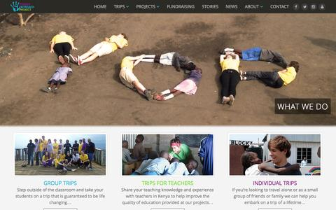 Screenshot of About Page yoproject.org.uk - Affordable trips to Africa for groups and individuals - captured Oct. 27, 2014
