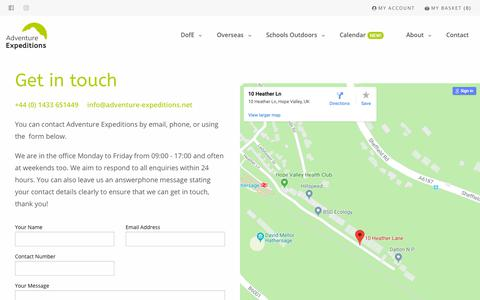 Screenshot of Contact Page adventure-expeditions.net - Contact - Adventure Expeditions - captured Nov. 6, 2018