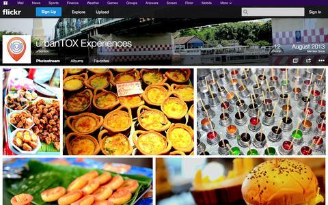 Screenshot of Flickr Page flickr.com - Flickr: urbantox's Photostream - captured Oct. 26, 2014