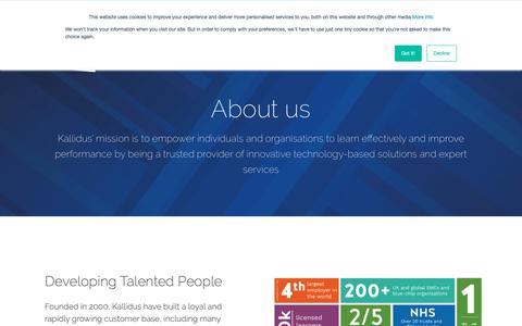 Screenshot of About Page kallidus.com - About us | Kallidus - captured April 20, 2019