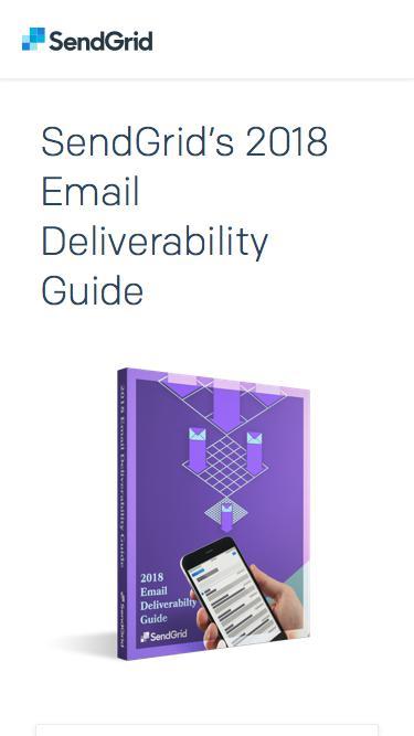SendGrid - 2018 Email Deliverability Guide