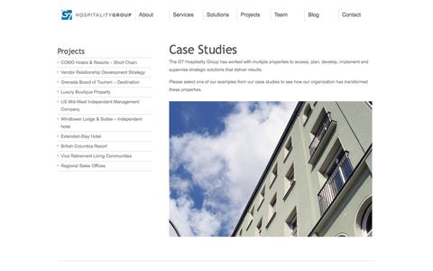 Screenshot of Case Studies Page g7hospitality.com - G7 Hospitality - Case Studies - captured Oct. 1, 2014