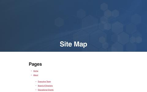 Screenshot of Site Map Page corcept.com - Site Map | Corcept Therapeutics - captured Nov. 3, 2018