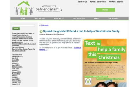 Screenshot of Press Page befriendafamily.co.uk - News | Westminster Befriend a Family: Westminster family support services - captured Feb. 25, 2016