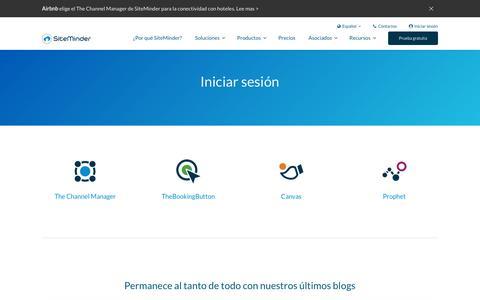 Screenshot of Login Page siteminder.com - Inicio de sesión en SiteMinder - Accede a la plataforma de adquisición de huéspedes de SiteMinder - captured Oct. 19, 2018