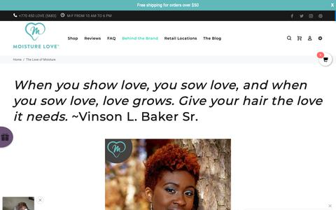 Screenshot of About Page moisturelove.com - The Love of Moisture – moisturelove - captured Dec. 5, 2018