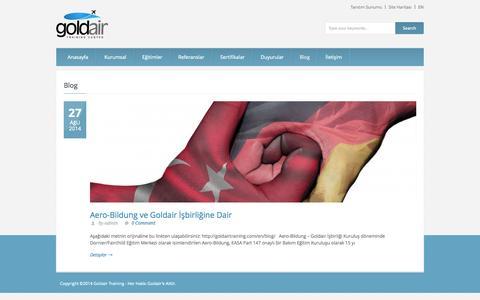 Screenshot of Blog goldairtraining.com - Gold Air Training   » Blog - captured Oct. 27, 2014
