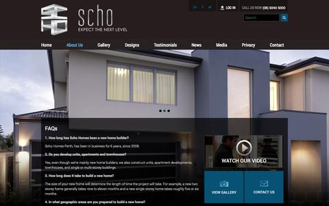 Screenshot of FAQ Page schohomes.com.au - FAQs | SCHO Homes - captured Oct. 4, 2014