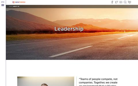 Screenshot of Team Page gentherm.com - Leadership | Gentherm - captured July 17, 2018