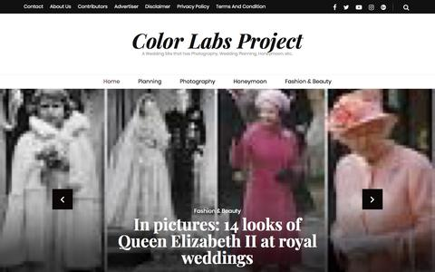 Screenshot of Home Page colorlabsproject.com - Color Labs Project – A Wedding Site that has Photography, Wedding Planning, Honeymoon, etc.. - captured April 22, 2018