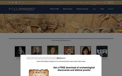 Screenshot of Blog aroodawakening.tv - Hebrew Roots Blog | News from the Hebraic Roots World - captured May 18, 2017