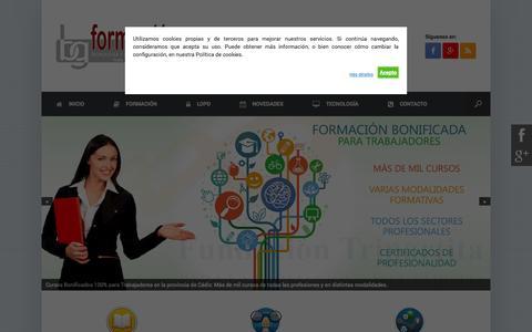 Screenshot of Home Page bgformacion.es - BG Tecnología y Asesoría de Formación para Empresas - captured Oct. 4, 2014