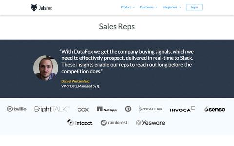 DataFox for Sales Reps