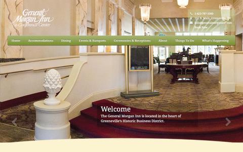 Screenshot of Home Page generalmorganinn.com - The General Morgan Inn - captured Nov. 4, 2018