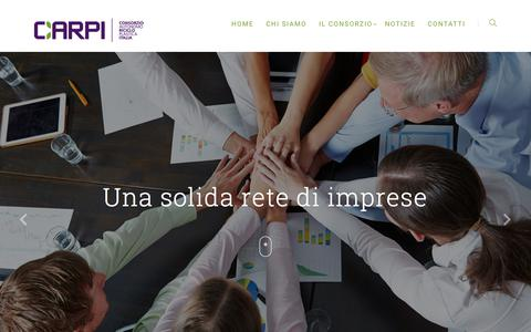 Screenshot of Home Page consorziocarpi.com - Home Page C.A.R.P.I. - C.A.R.P.I - Consorzio Autonomo Riciclo Plastica - captured July 21, 2018