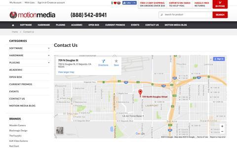 Screenshot of Contact Page motionmedia.com - Contact Motion Media - captured Nov. 30, 2016