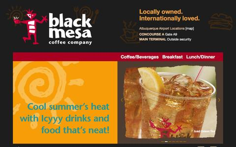Screenshot of Home Page blackmesacoffeeco.com - Black Mesa Coffee Company-Albuquerque Airport Coffee - captured Feb. 7, 2016