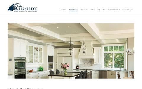Screenshot of About Page kennedycarpentry.com - Quincy, Boston, MA Home Building Remodeling | Kennedy Carpentry Home Builders | Kennedy Carpentry Home Builders - captured Nov. 2, 2018