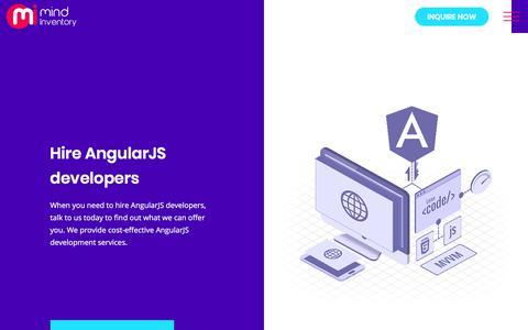Screenshot of mindinventory.com - Hire AngularJS Developer, Hire Dedicated AngularJS Development Team - captured Sept. 17, 2017