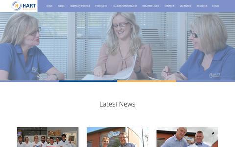 Screenshot of Press Page hartbio.co.uk - News — Hart Biologicals - captured Oct. 28, 2016