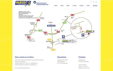 Screenshot of Contact Page aleco.nl - Aleco Sportvisions  Contact - Aleco Sportvisions - captured Feb. 5, 2016