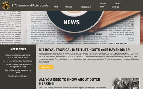 Screenshot of Press Page kit.nl - News - KIT   Intercultural Professionals - captured Oct. 23, 2018
