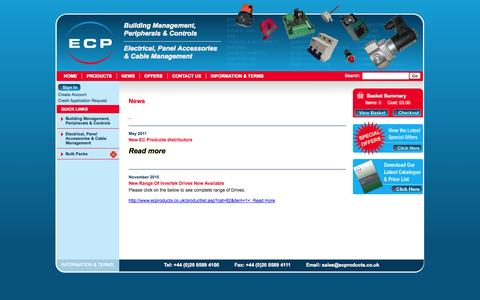 Screenshot of Press Page ecproducts.co.uk - EC Products - Building Management, Peripherals and Controls - Hounslow, Middlesex, UK. - captured Oct. 1, 2014