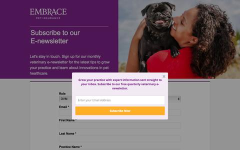 Screenshot of Landing Page embracepetinsurance.com - Embrace Pet Insurance | Experience Better Pet Insurance with EMBRACE - captured March 2, 2018