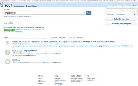 reddit.com: search results - Engage2Excel