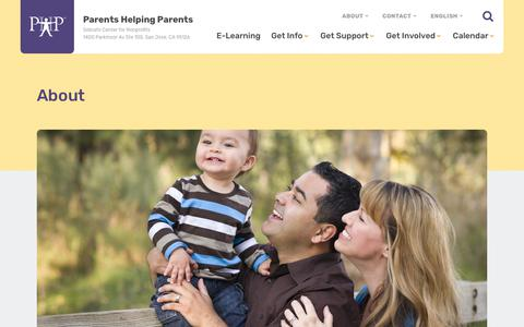 Screenshot of About Page php.com - About Parents Helping Parents San Jose : Parents Helping Parents - captured Aug. 2, 2018