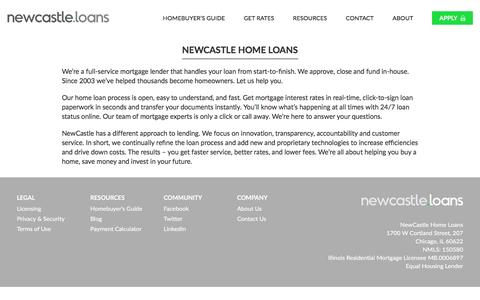 Screenshot of About Page newcastle.loans - NewCastle Home Loans | Newcastle Home Loans - captured Dec. 18, 2016