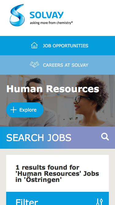 Screenshot of Jobs Page  solvay.com - Human Resources Jobs in Östringen at Solvay   Careers at Solvay